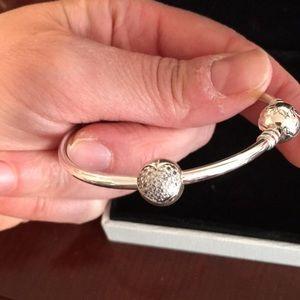 Pandora Jewelry - Authentic sterling silver Pandora bracelet